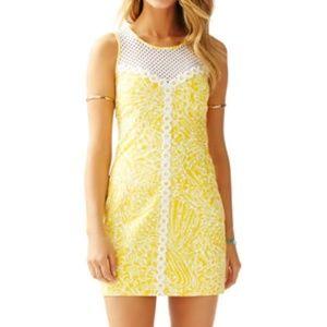 Lilly Pulitzer Yellow Lace Shift Dress